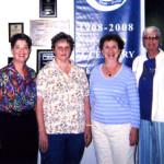 Writing Critique Group at Skolnick Community Center, Pompano Beach, FL – Susan Glazer, Carol Shrimp, Marjory Lyons and Eleanor Rostad