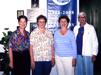 Writing Critique Group at Skolnick Community Center, Pompano Beach, FL – Susan Glazer, Carol Shrimp, Marjory Lyons and Eleanor Rostad
