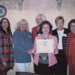 Marjory Lyons received an award from the Broward County Schools for Library Project Juvenile Detention Center