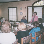 Marjory Diane Lyons speaking before the meeting of the National League of American Pen Writers Fort Lauderdale Branch